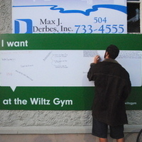 Historic Wiltz Gym Sign