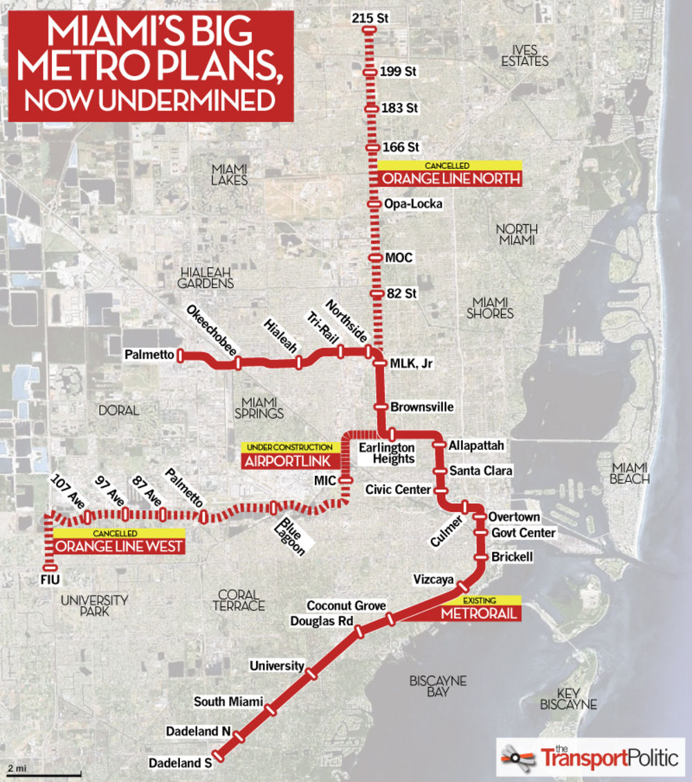 i want to expand metrorail to improve transit in miami-dade